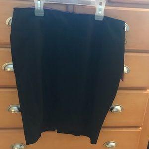 Candies black pencil skirt